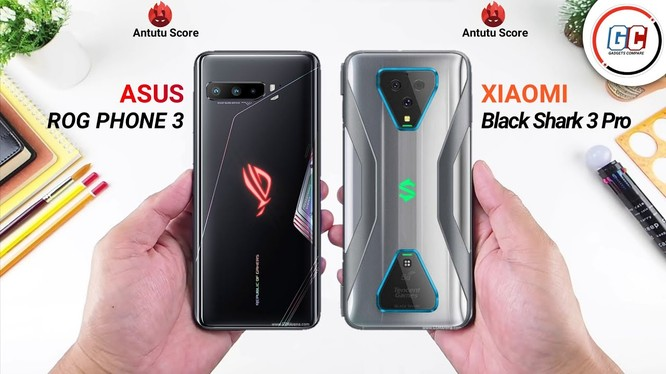 ROG Phone 3 vs Black Shark 3 Pro (Ảnh: Gadgets)