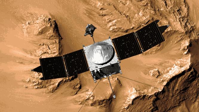 Tàu MAVEN của NASA (Ảnh: Inverse)