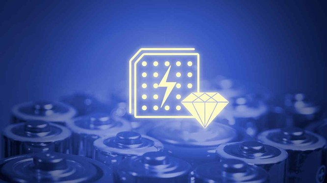 Pin kim cương có khả năng cung cấp năng lượng trong thời gian dài (Ảnh: Nikkei)