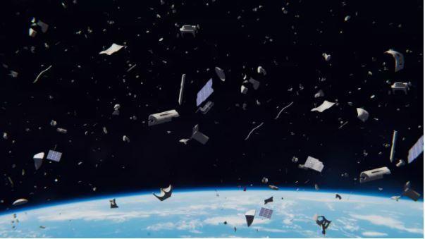 Hình ảnh minh họa về rác không gian (Ảnh: Live Science)