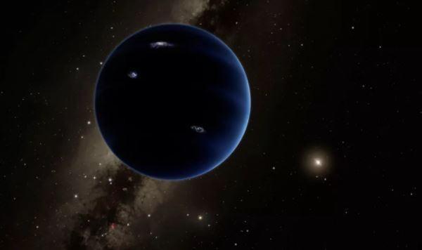 """Hình minh họa của một họa sĩ về một hành tinh lớn gấp 10 lần Trái đất chưa được khám phá trong hệ Mặt trời. Các nhà khoa học gọi đây là """"hành tinh thứ 9"""" (Ảnh: Live Science)"""