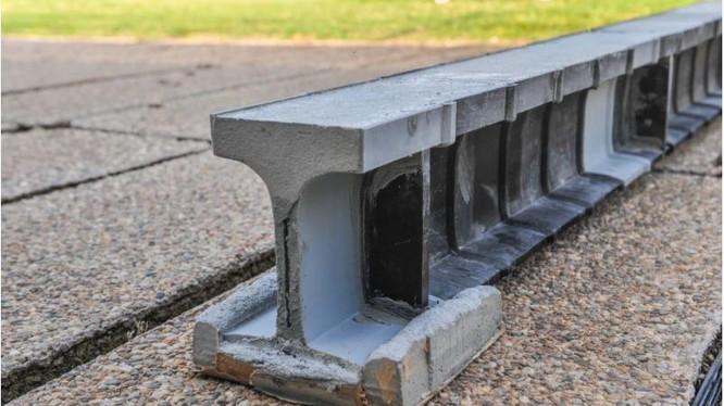 Dầm bê tông được làm bằng công nghệ in 3D (Ảnh: New Atlas)