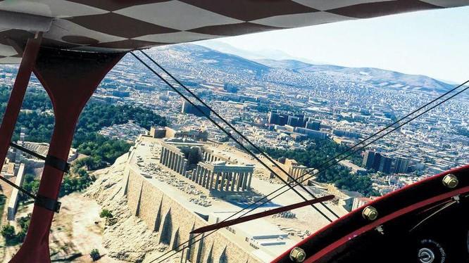 Nếu bạn không thể đến thăm Hy Lạp, hãy mang Hy Lạp đến với bạn. Với phiên bản mới nhất của Microsoft Flight Simulator, Acropolis là một trong nhiều kỳ quan thực tế mà bạn có thể ghé thăm từ sự thoải mái ngay tại nhà của mình (Ảnh: Air Space Mag)