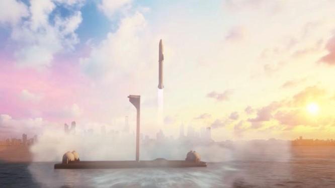 SpaceX xây dựng cảng vũ trụ trên biển (Ảnh: Techh Crunch)