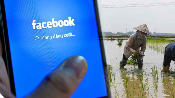 Facebook nhận thấy tiềm năng lớn ở vùng nông thôn Việt Nam (Ảnh: Nikkei)