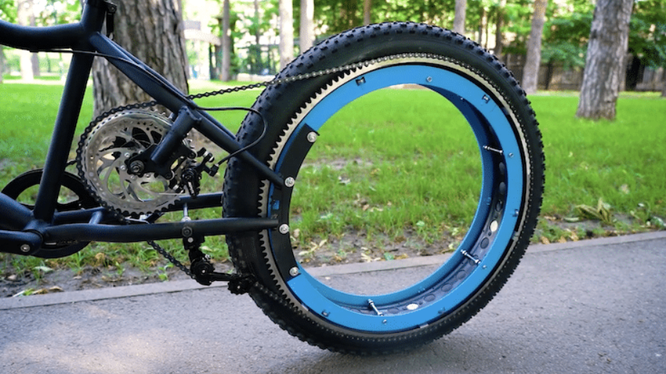 Xe đạp chạy không cần trục (Ảnh: Mymodernmet)