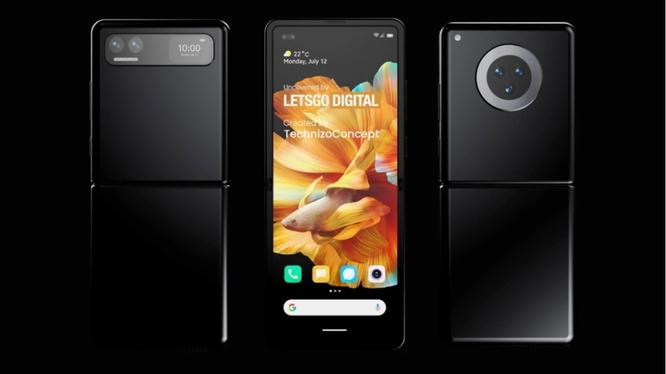 Chiếc điện thoại của Xiaomi được cho là sẽ cạnh tranh với Samsung Galaxy Z Flip (Ảnh: Phone Arena)
