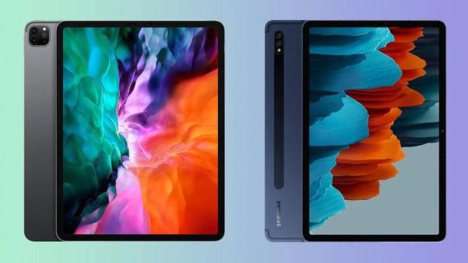 Samsung Galaxy Tab S7+ và iPad Pro đều có thể thay thế laptop ở một số tác vụ