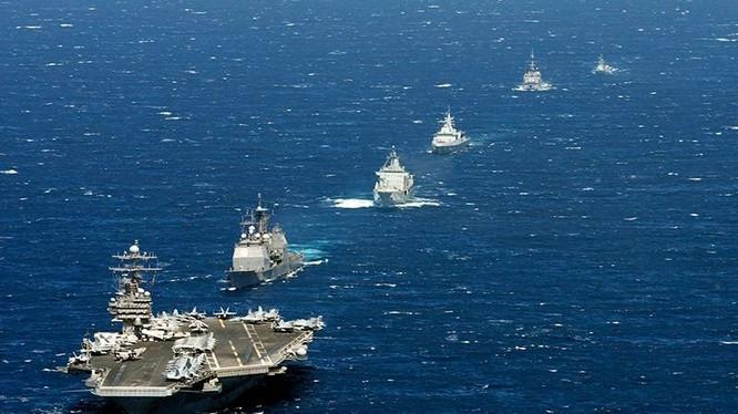 Cụm tác chiến tàu sân bay Mỹ luôn thường trực tại các điểm nóng trên thế giới