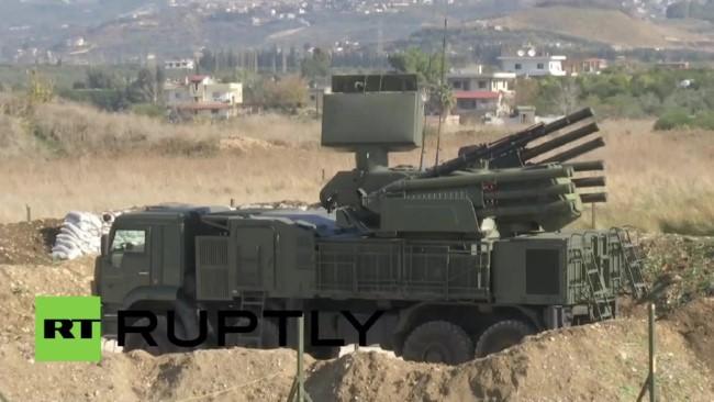 Hệ thống tên lửa Pantsir ở căn cứ Khmeimim