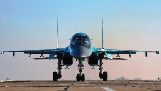 Cường kích Su-34 Nga tham chiến tại Syria