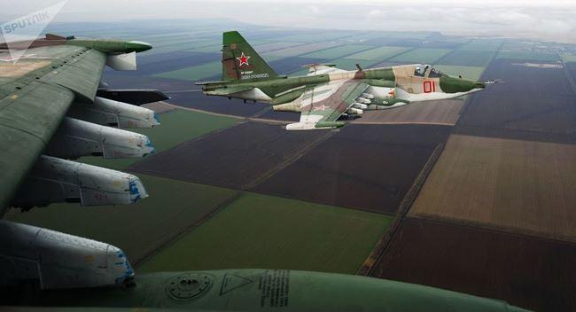 Cường kích Su-25 Nga đang hoạt động tích cực trên chiến trường Syria