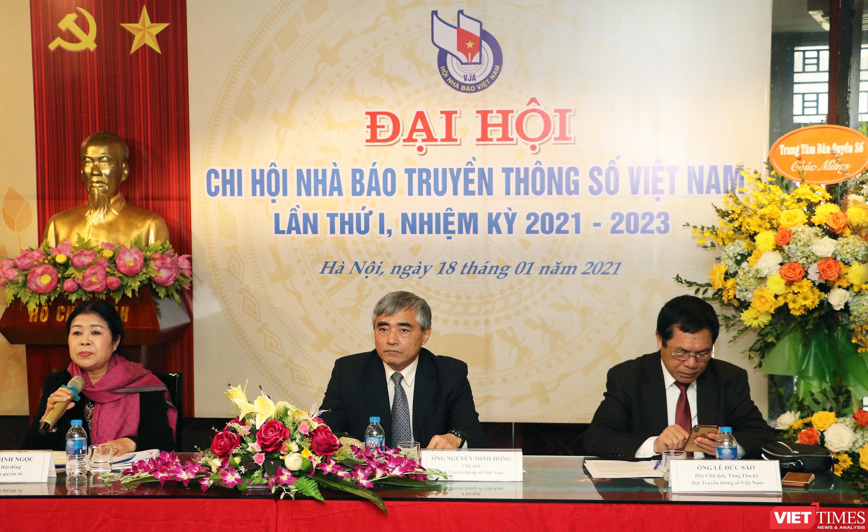 Đoàn Chủ tịch Đại hội Chi hội Nhà báo Truyền thông số Việt Nam
