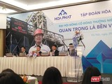 Ông Trần Đình Long - Chủ tịch HĐQT Tập đoàn Hòa Phát (thứ 3 từ trái sang) - làm chủ tọa cuộc họp ĐHĐCĐ thường niên 2019 (Ảnh: P.D)