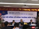 Chủ tịch Vinaconex Đào Ngọc Thanh phát biểu tại ĐHĐCĐ thường niên 2019 (Ảnh: VT)