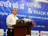 Chủ tịch Hội Truyền thông số Việt Nam, ông Nguyễn Minh Hồng phát biểu khai mạc Hội thảo.