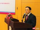 GS. Tạ Thành Văn - Hiệu trưởng Trường Đại học Y Hà Nội phát biểu tại buổi lễ
