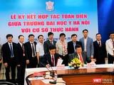 Ký kết hợp tác toàn diện giữa Trường Đại học Y Hà Nội với các BV với sự chứng kiến của đại diện Bộ Y tế