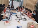 Các sinh viên Trường Đại học Y Hà Nội tham gia hỗ trợ Ban Chỉ đạo phòng, chống dịch COVID-19 của Bộ