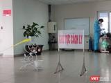 Khu vực cách ly bệnh nhân mắc COVID-19 tại Bệnh viện Bệnh Nhiệt đới Trung ương. Ảnh: Minh Thúy