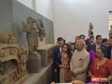 Sáng 19/11, Tổng thống Ấn Độ Ram Nath Kovind và phu nhân nhân đã đến thăm Bảo tàng điêu khắc Chăm tại Đà Nẵng.