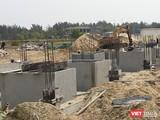 Hiện trường hạng mục thi công móng đối với 8 căn biệt thự tại Khu biệt thự Song Lập có ký hiệu (B3-1) thuộc Khu đô thị số 6 thị xã Điện Bàn (Quảng Nam)