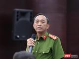 Đại tá Trần Mưu – Phó Giám đốc Công an TP Đà Nẵng trả lời báo giới tại Họp báo định kỳ Quý 1/2019 do UBND TP Đà Nẵng tổ chức diễn ra chiều 24/4.