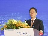 Ông Trần Tuấn Anh - Bộ trưởng Bộ Công Thương phát biểu khai mạcdiễn đàn Logistics Việt Nam 2019 lần thứ 7 (VLF 2019) diễn ra tại Đà Nẵng