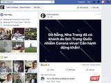 Thông tin trên trang facebook cá nhân về xuất hiện du khách Trung Quốc đến Đà Nẵng bị nhiễm virus Corona gây bệnh viêm phổi cấp (ảnh chụp màn hình)