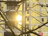 Kính phản quang màu vàng tại Tổ hợp khách sạn và căn hộ P.A Tower (trên đường Như Nguyệt) gây chói