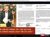 Sự việc liên quan đến thông tin ông Lê Thành Tâm (TP HCM) tìm cái chết vì vay nợ của Fe Credit và bị đe dọa thu hút sự quan tâm của cộng đồng mạng