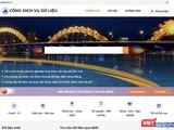 Giao diện Cổng dịch vụ dữ liệu mở Đà Nẵng