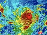 Hình ảnh mây vệ tinh cơn bão số 9