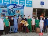 Doàn y bác sĩ của Bệnh viện C Đà Nẵng tại buổi lên đường hỗ trợ Bắc Giang chống dịch COVID-19.