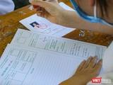 Thí sinh làm bài thi tại kỳ thi lớp 10 THPT năm học 2021-2022 ở Đà Nẵng