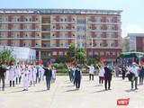 Đoàn y bác sĩ ngành y tế Quảng Nam trong buổi lên đường chi viện cho TP HCM chống dịch COVID-19