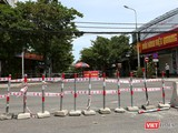 Một khu vực phong toả y tế tại phường An Hải Bắc, quận Sơn Trà, TP Đà Nẵng
