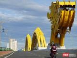 Cầu Rồng (Đà Nẵng) trong những ngày toàn TP Đà Nẵng áp dụng lệnh giãn cách xã hội