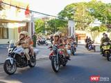 Lực lượng tuần tra kiểm soát Công an TP Đà Nẵng lên đường làm nhiệm vụ giám sát thuân thủ quy định cách ly tuyệt đối của người dân