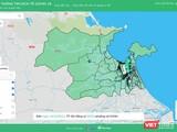 Bản đồ dịch phòng dịch COVID-19 TP Đà Nẵng chuyển trạng thái hoàn toàn xanh