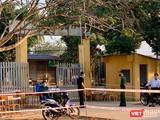 Điểm cách ly tại trường THCS Thành Long (huyện Châu Thành, tỉnh Tây Ninh). Ảnh nhân vật cung cấp.