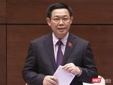 Phó Thủ tướng Vương Đình Huệ trả lời chất vấn trước Quốc hội chiều 6/6 về quản lý tiền ảo
