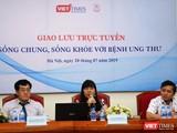 """Cuộc giao lưu trực tuyến """"Sống chung, sống khỏe với ung thư do VietTimes phối hợp với Đại học Y tổ chức (ảnh: Đ.K)"""