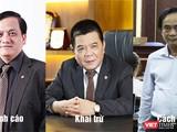 Ông Trần Bắc Hà (giữa) – ông Trần Lục Lang (trái) - ông Đoàn Ánh Sáng (phải) là những đồng hương, trưởng thành từ Chi nhánh BIDV Bình Định.