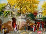 """Bức """"Chiều thu bên ô Quan Chưởng"""" của họa sĩ Lâm Đức Mạnh bị sao chép rao bán công khai"""