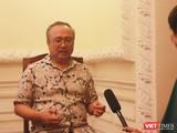 NSND Đặng Thái Sơn trả lời VietTimes sau buổi tập sáng 24/8 tại Nhà hát TP.HCM.