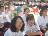 Học sinh trường THPT chuyên Lê Hồng Phong (Ảnh: Hòa Bình)