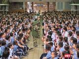 Học sinh trường Tiểu học Lương Định Của (Quận 3, TP.HCM) thời điểm cuối năm 2019 trước khi bùng phát dịch COVID-19 (Ảnh: Hòa Bình)
