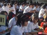 Học sinh trường THPT chuyên Lê Hồng Phong (Quận 5, TP.HCM) - Ảnh: Hòa Bình