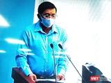 Ông Nguyễn Toàn Thắng, Giám đốc Sở TNMT TP.HCM tại cuộc họp báo chiều 28/3 (Ảnh chụp lại màn hình video ghi lại cuộc họp)